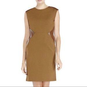Lafayette New York Leather Stretch Dress